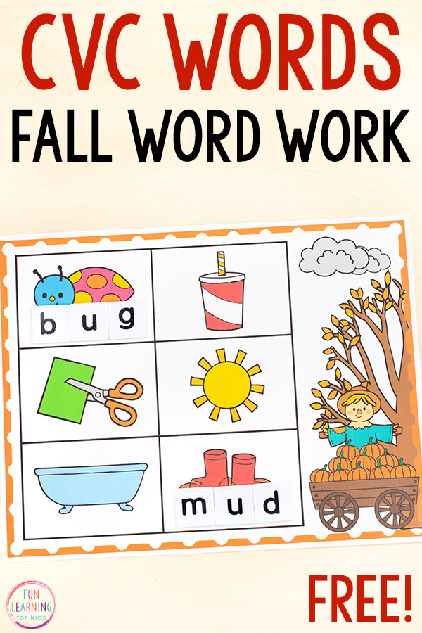 Printable CVC word building mats that give students practice with isolating sounds and reinforcing phonemic awareness.