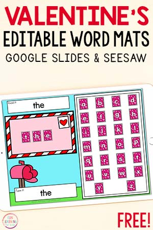 Paperless Valentine's Day word building activity.
