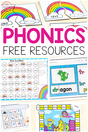 Phonics activities for kids who are learning to read.