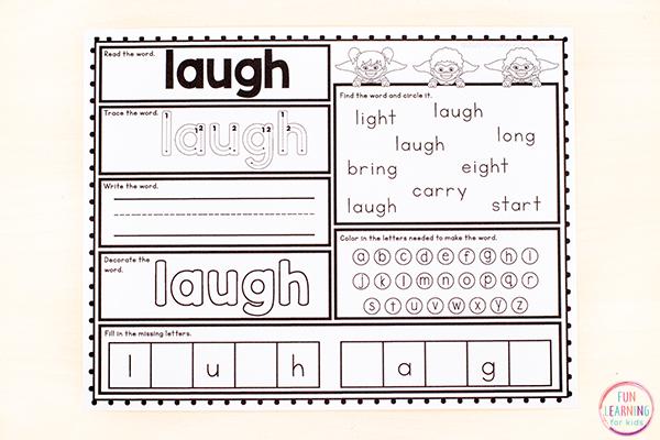 Free Printable Third Grade Sight Word Worksheets