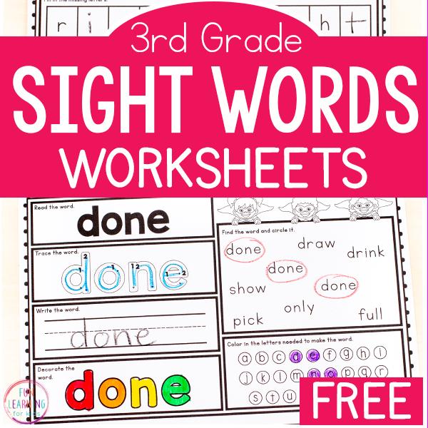 33+ Printable Worksheets Kindergarten Sight Words Background