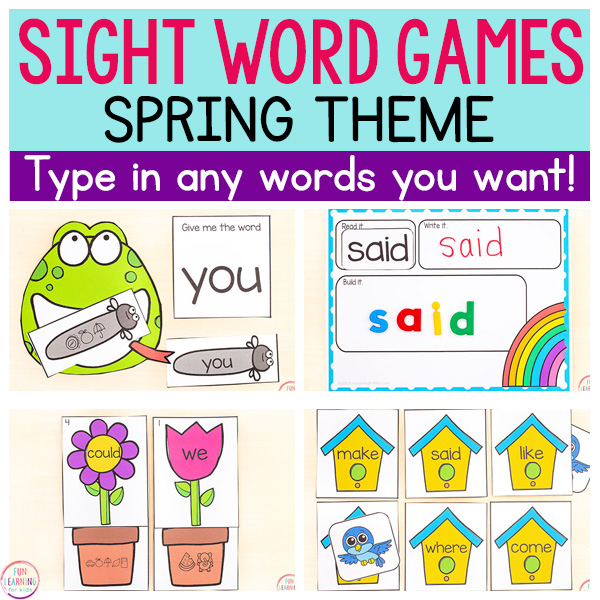 editable spring activities