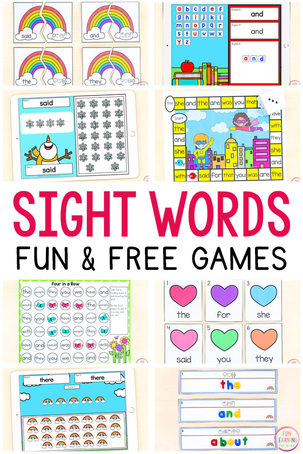 50+ Free Printable Sight Word Activities
