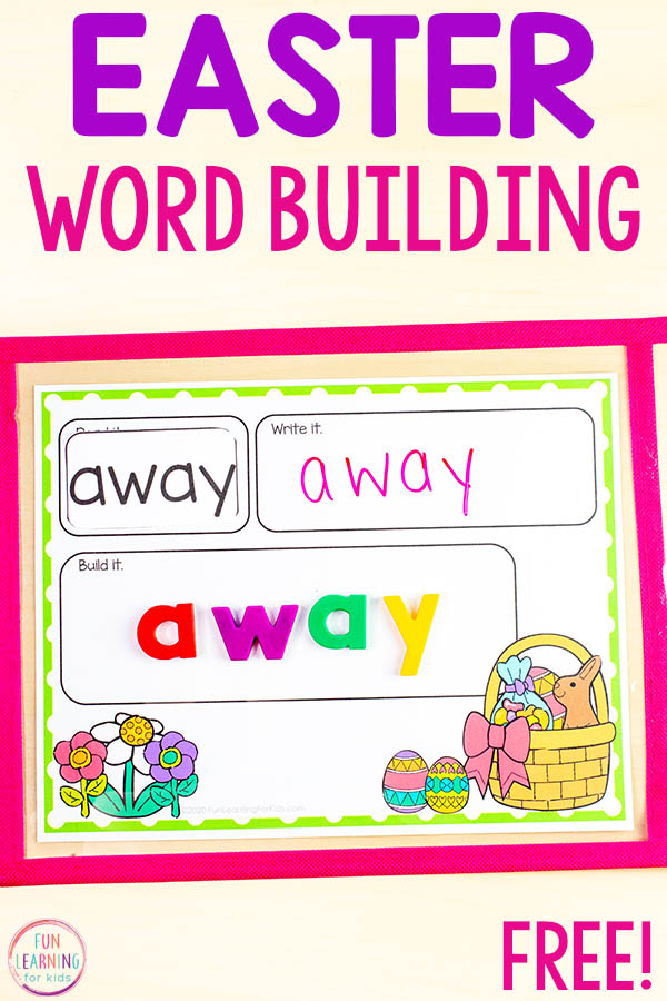 Free Easter word work mats for your literacy centers or homework.