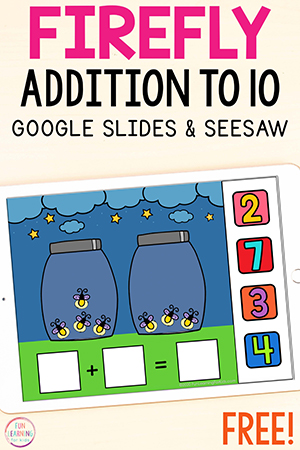 A free addition to 10 math activity for spring or summer.