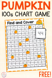 Pumpkin 100 and 120 chart find and cover the numbers mats.