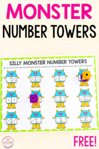 A fun silly monster theme math activity for kids.